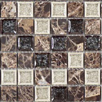 TS909 Tranquil Chocolate Blend Mosaic Tile