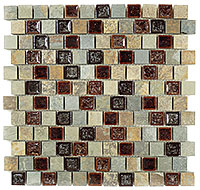 TS921 Tranquil Offset Shallow Reef Mosaic Tile