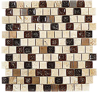 TS922 Tranquil Offset Spotted Dove Mosaic Tile