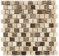 TS923 Tranquil Offset Ashen Forest Mosaic Tile