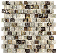TS927 Tranquil Offset Misty Scales Mosaic Tile