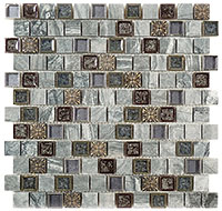 TS928 Tranquil Offset Blue Moon Mosaic Tile