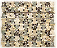 TS930 Tranquil Trapezoid Tender Harbor Mosaic Tile