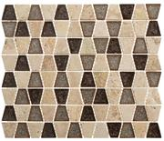 TS935 Tranquil Trapezoid Midday Aubergine Mosaic Tile