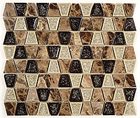 TS936 Tranquil Trapezoid Rocky Road Mosaic Tile