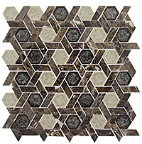 TS953 Tranquil Hexagon Capitol Archive Mosaic Tile
