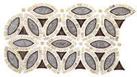 TS961 Tranquil Flower Roman Bloom Mosaic Tile