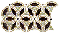 TS962 Tranquil Flower Ancient Market Mosaic Tile