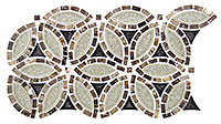 TS963 Tranquil Flower Grecian Urn Mosaic Tile
