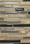 Silver Aspen Glass Linear Decorative Tile 12