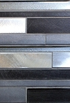Black / Gray Glass-Metal Decorative Tile 12