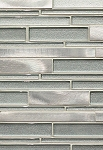 Stainless / Clear Glass-Metal Decorative Tile 12