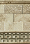 Travertine Honed/Filled Ivory Stone floor and wall tile 3