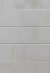 White Carrara 4 x 16 Ceramic Wall Tile