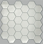Self Stick Wall Tile- White Hex- 10.5