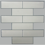 Self Stick Wall Tile- White Subway- 10.5