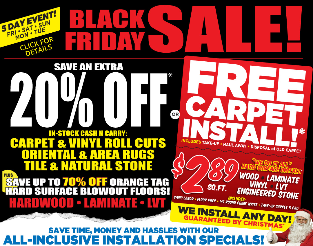 Save 20 Or Get Free Carpet Install During Our Black Friday Sale Carpetmart Com