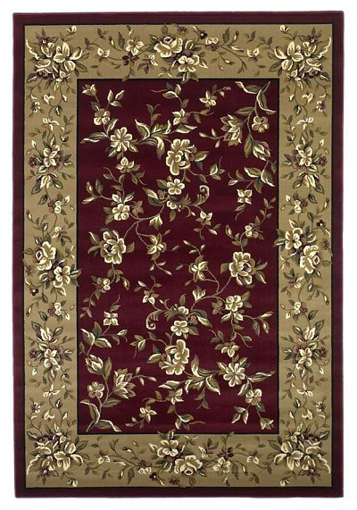 Cambridge Floral 7337 Red/Beige Floral Delight Area Rug by KAS
