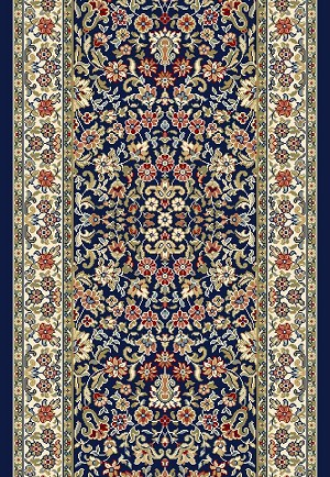 Dynamic Rugs Ancient Garden 57078 3434 Navy Ivory 2 2