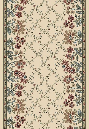 "Ancient Garden 57084-6464 Pearl 2'2"" Wide Hall and Stair Runner"