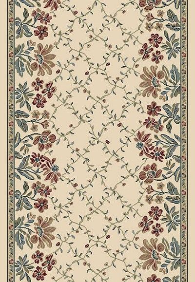 "Ancient Garden 57084-6464 Pearl 2'7"" Wide Hall and Stair Runner"