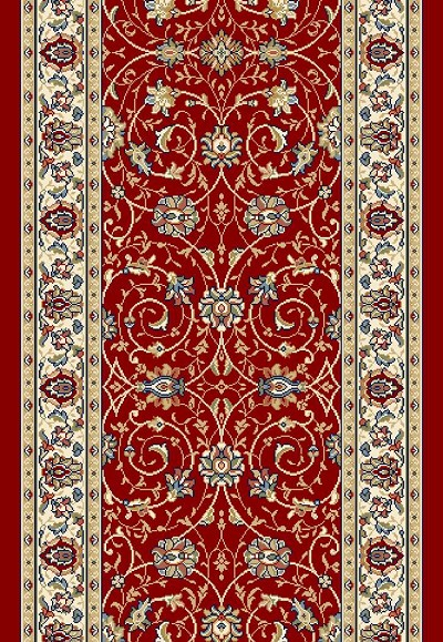 "Ancient Garden 57120-1464 Red/Ivory 2'7"" Wide Hall and Stair Runner"