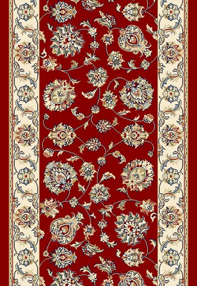 "Ancient Garden 57365-1464 Red/Ivory 2'2"" Wide Hall and Stair Runner"
