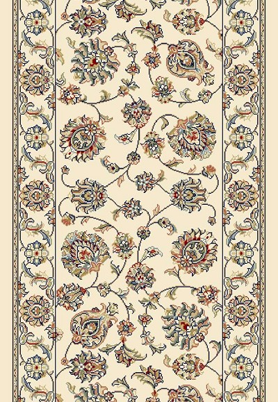 "Ancient Garden 57365-6464 Ivory/Ivory 2'7"" Wide Hall and Stair Runner"