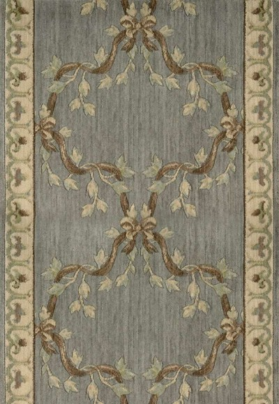 Ashton House A01R Ribbon Trellis Haze 3' Foot Wide Hall and Stair Runner