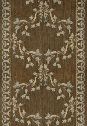 "Ashton House A01R Ribbon Trellis Mink 2'3"" Wide Hall and Stair Runner"