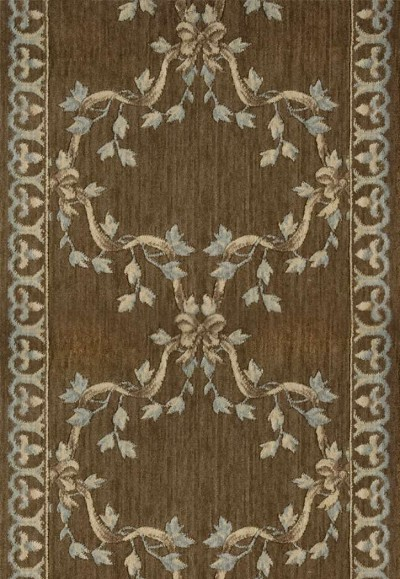 Ashton House A01R Ribbon Trellis Mink 3' Foot Wide Hall and Stair Runner