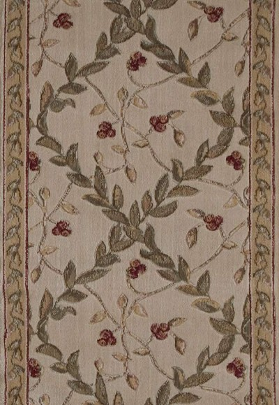 "Ashton House A02R Regal Vine Ivory 2'3"" Wide Hall and Stair Runner"