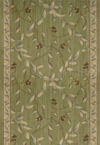 "Ashton House A02R Regal Vine Kiwi 2'3"" Wide Hall and Stair Runner"