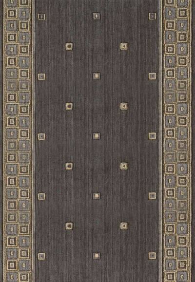 "Cosmopolitan C31R Cosmo Square Platinum 2'6"" Wide Hall and Stair Runner"