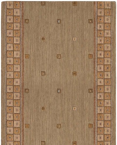 "Cosmopolitan C31R R12 Cosmo Square Sage 2'6"" Wide Hall and Stair Runner"