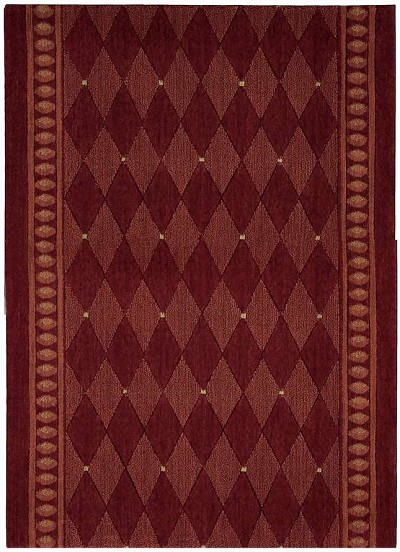 "Cosmopolitan C94R R41 Marquis Red 2'6"" Wide Hall and Stair Runner"
