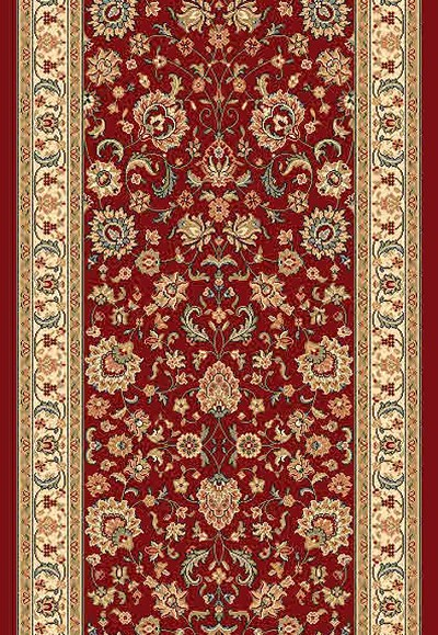 "DaVinci Kashan 14 Red 2'2"" Wide Hall and Stair Runner"
