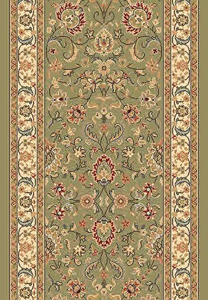 "DaVinci Kashan 44 Green 2'2"" Wide Hall and Stair Runner"