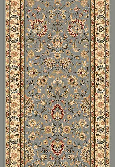 "DaVinci Kashan 54 Blue 2'2"" Wide Hall and Stair Runner"
