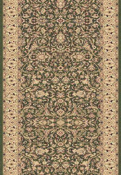 "Legacy 58004-420 Green 2'2"" Wide Hall and Stair Runner"