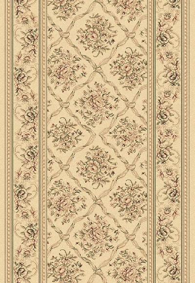 "Legacy 58018-100 Ivory 2'7"" Wide Hall and Stair Runner"