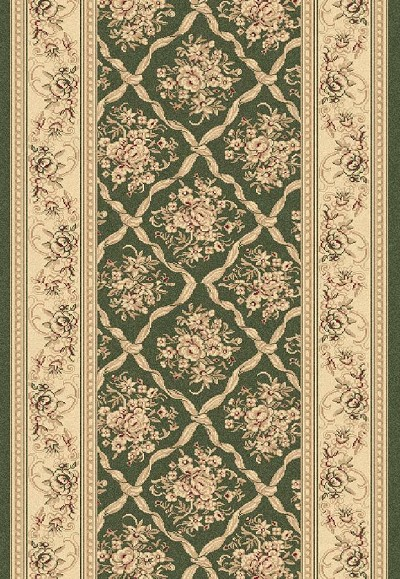 "Legacy 58018-440 Green 2'7"" Wide Hall and Stair Runner"