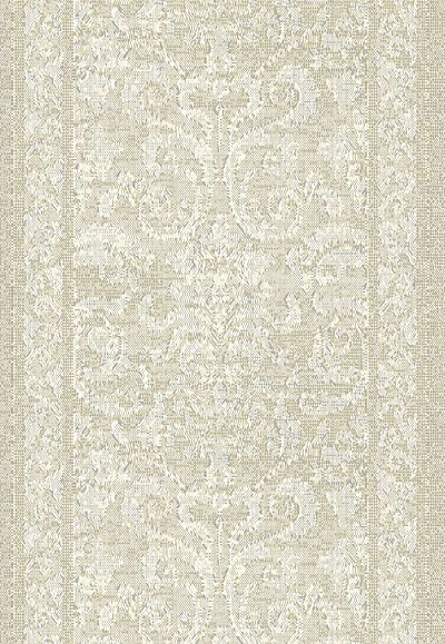 "Mysterio 1217-101 Beige 2'7"" Wide Hall and Stair Runner"
