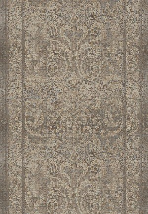 "Mysterio 1217-900 Grey 2'2"" Wide Hall and Stair Runner"
