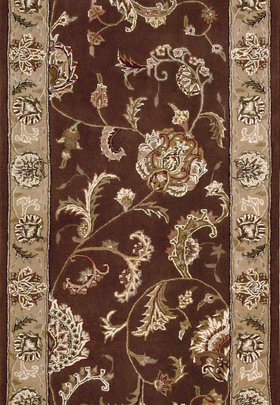 "Nourison 2000 2206 Brown 2'6"" Wide Hall and Stair Runner"