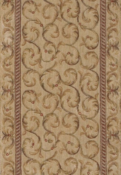 "Somerset ST02 Ivory 2'3"" Wide Hall and Stair Runner"