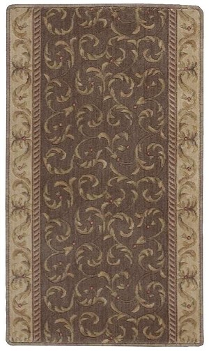 "Somerset ST02 Khaki 2'3"" Wide Hall and Stair Runner"