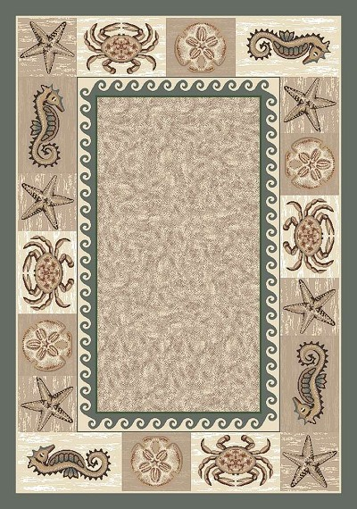 SeaLife P4882  Light Aqua 6720 Area Rug