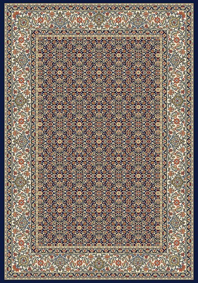 Ancient Garden 57011-3464 Navy (34 Navy) Area Rug by Dynamic Rugs