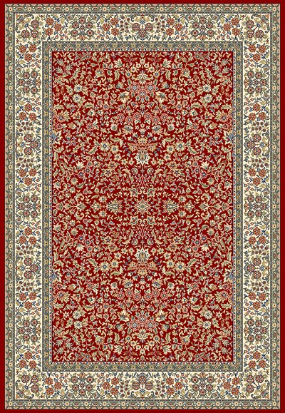 Ancient Garden 57078-1414 Red/Ivory (14 Red) Area Rug by Dynamic Rugs